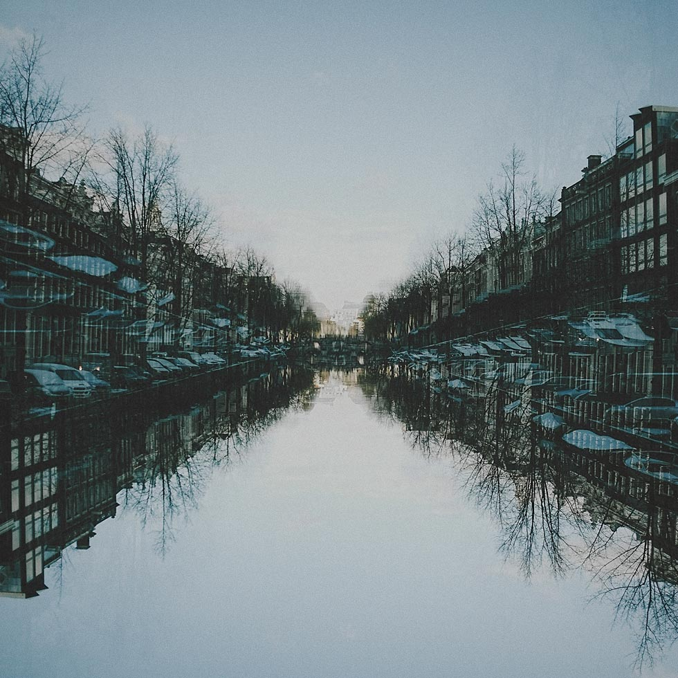 Amsterdam Canal Reflection