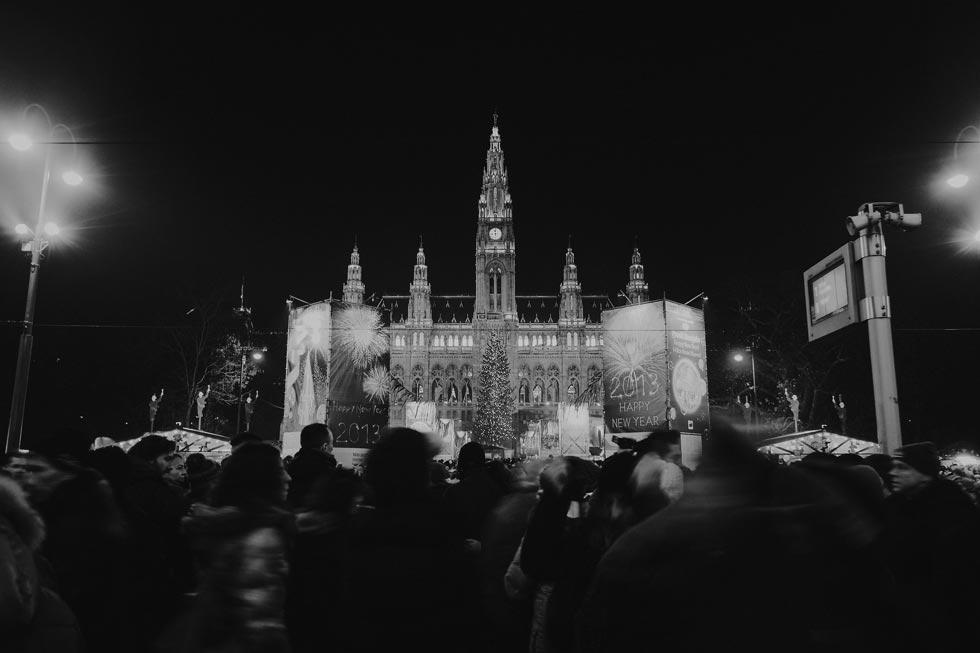 Rathaus, Vienna City Hall, New Years Eve, Vienna Wedding Photographer