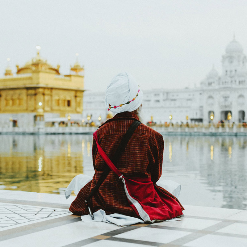 Sikh Man at Amritsar Golden Temple