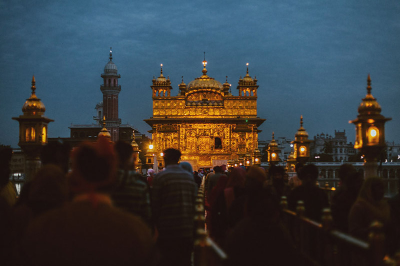 Golden Temple in Amritsar at Night
