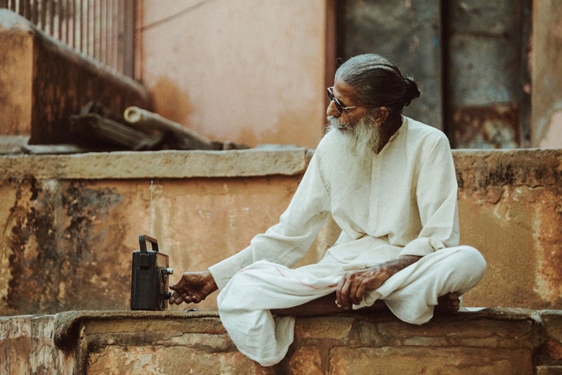 Man Sitting in Varanasi