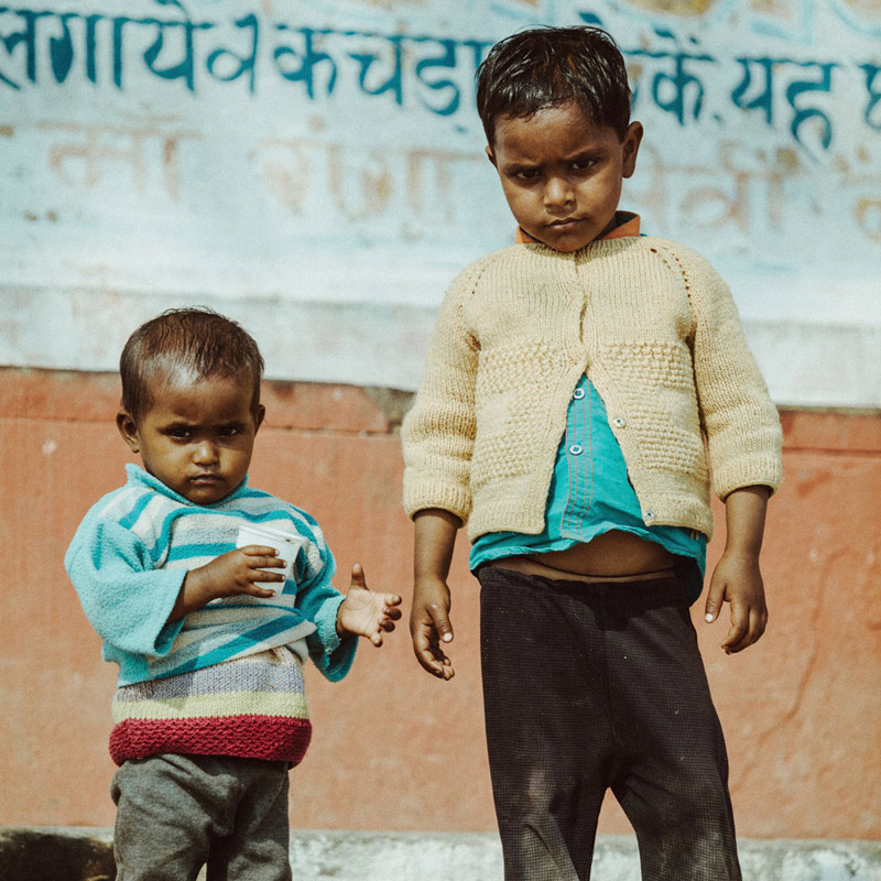Portraits of Children in Varanasi