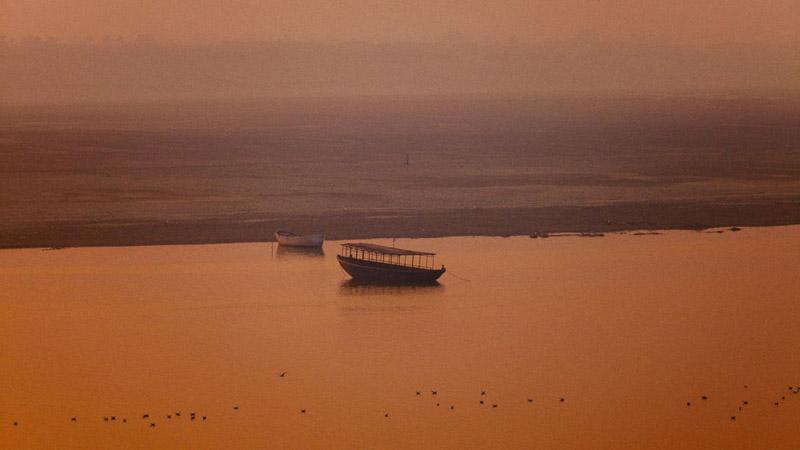Boats in Varanasi India