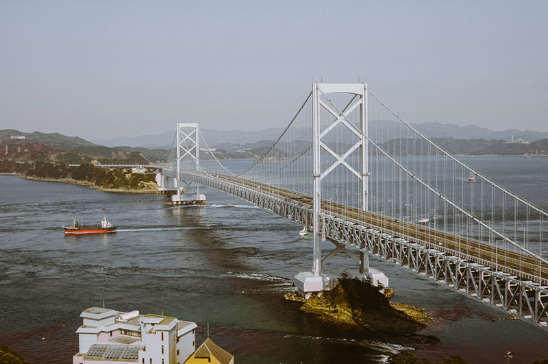 Naruto Whirlpools, Shikoku Travel Blog, Tomasz Wagner, Contax G2, Japan 35mm Film Photography