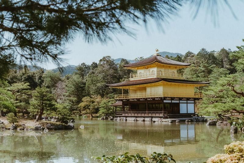 Kinkaku-ji Golden Pavilion, Tomasz Wagner, Kyoto, Contax G2, Japan 35mm Film Photography