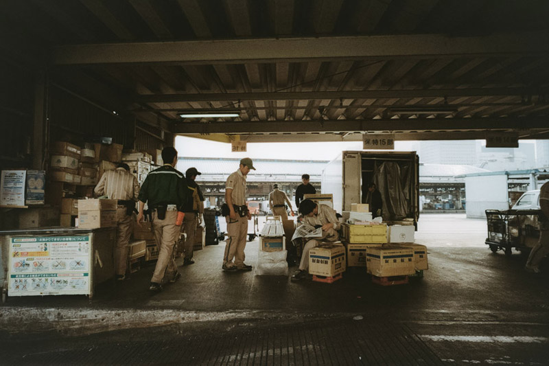 Tsukiji, Tomasz Wagner, Tokyo, Contax G2, Japan 35mm Film Photography