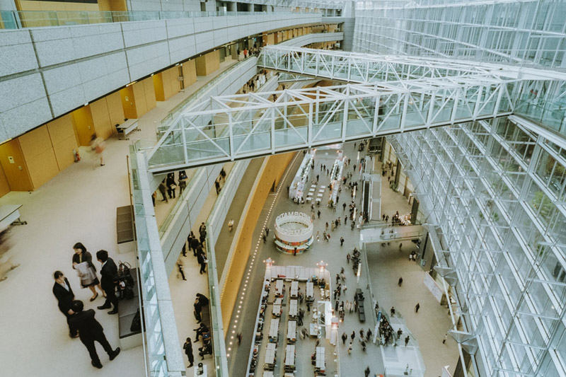Tokyo International Forum, Tomasz Wagner, Tokyo Architecture, Contax G2, Japan 35mm Film Photography