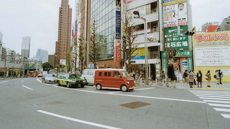Tokyo Street Photography, Tomasz Wagner, Contax G2, Japan 35mm Film Photography