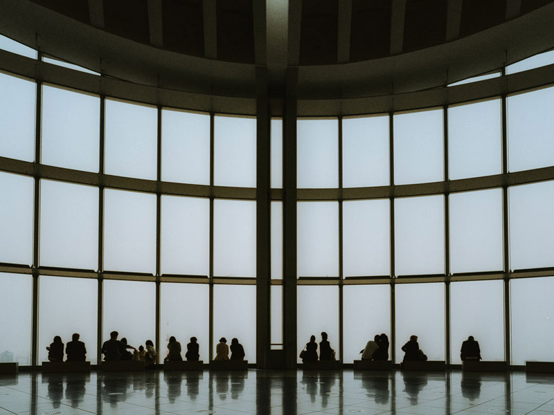Inside Tokyo Skytree, Tomasz Wagner, Tokyo Architecture, Contax G2, Japan 35mm Film Photography