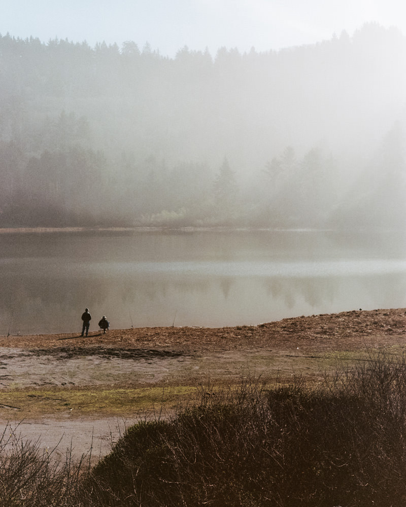 fishing at redwood national park photographed on contax g2