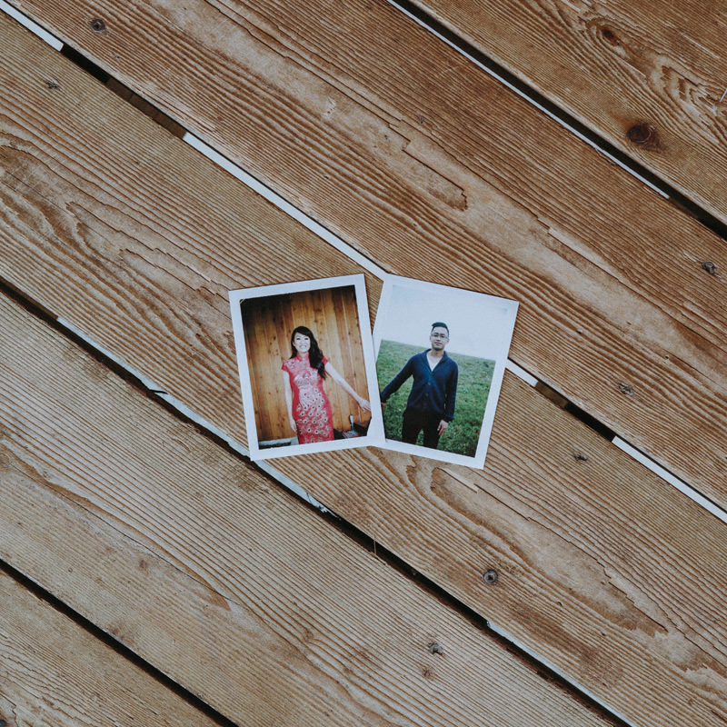 wedding polaroids at fraser river lodge