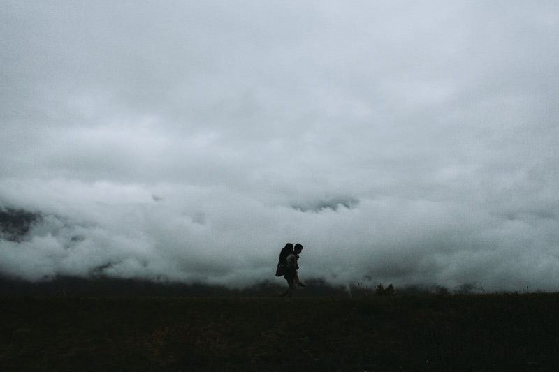 foggy scottish highlands elopement