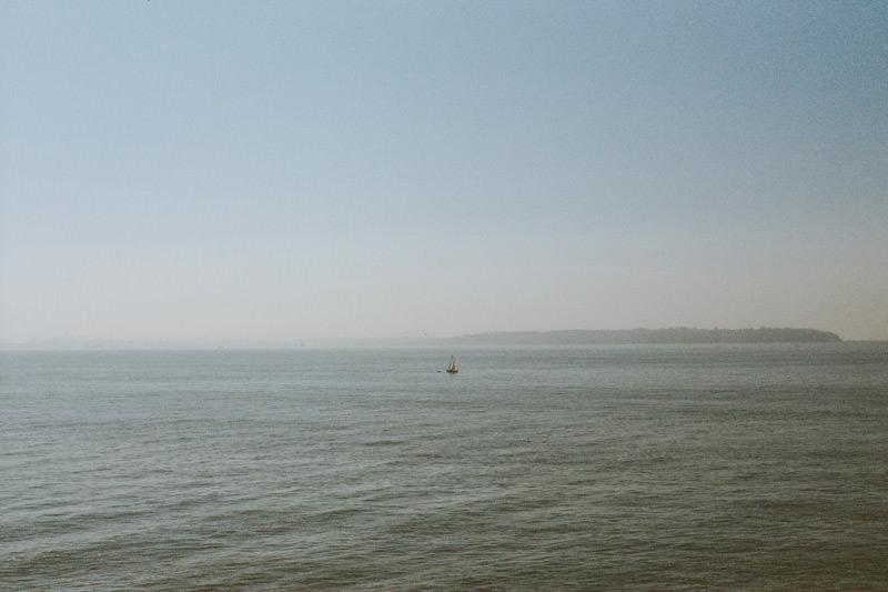 35mm film image of salish sea