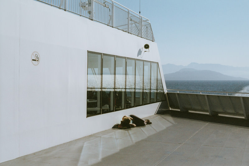 35mm film image of vancouver island bc ferry