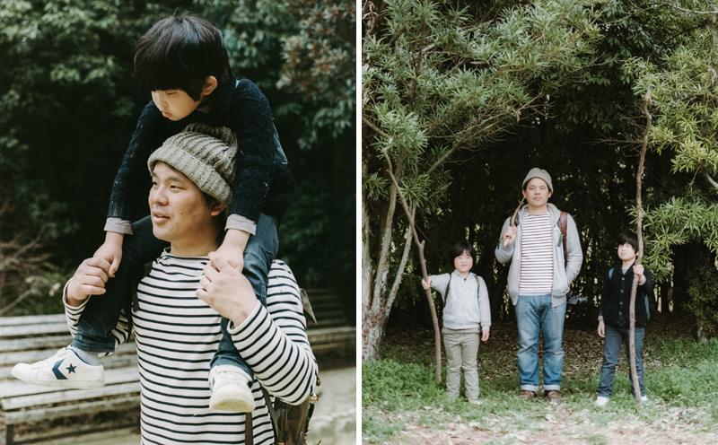 hideaki hamada family photographed on 35mm film