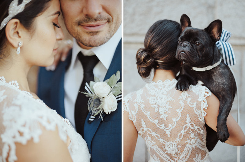 frenchie at vancouver art gallery wedding