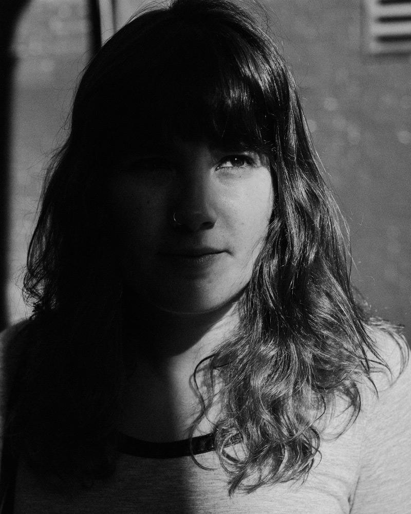35mm film image of graphic designer alicia carvalho