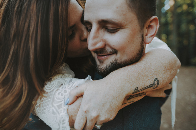tattooed couple vancouver engagement session