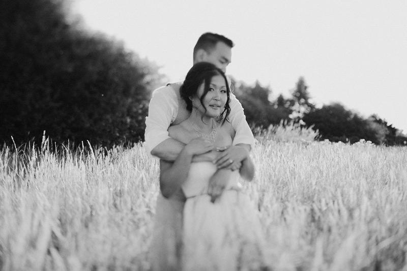 wedding photos in a field in pemberton