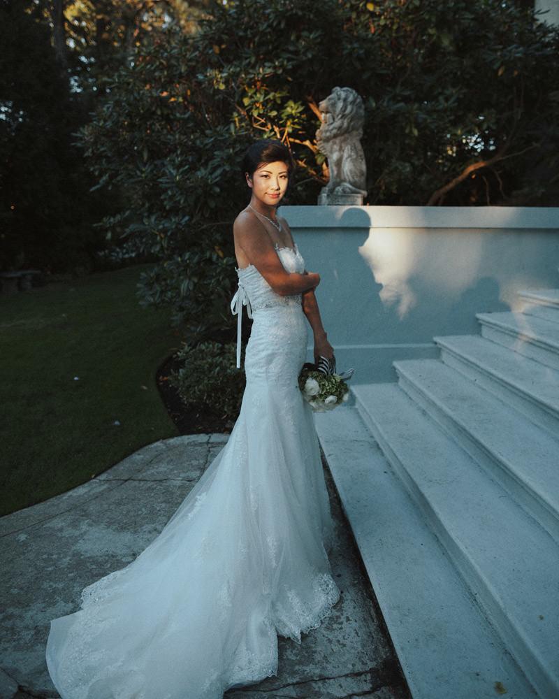 beautiful bride at hycroft manor