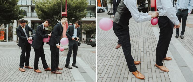 Tomasz Wagner Photographer, Olympic Village Wedding Vancouver, Chinese Wedding Games