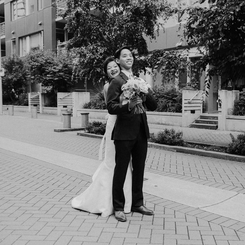 Tomasz Wagner Photographer, First Look, Olympic Village Wedding, Celsia Floral Bouquet, Vancouver Documentary Wedding Photographer