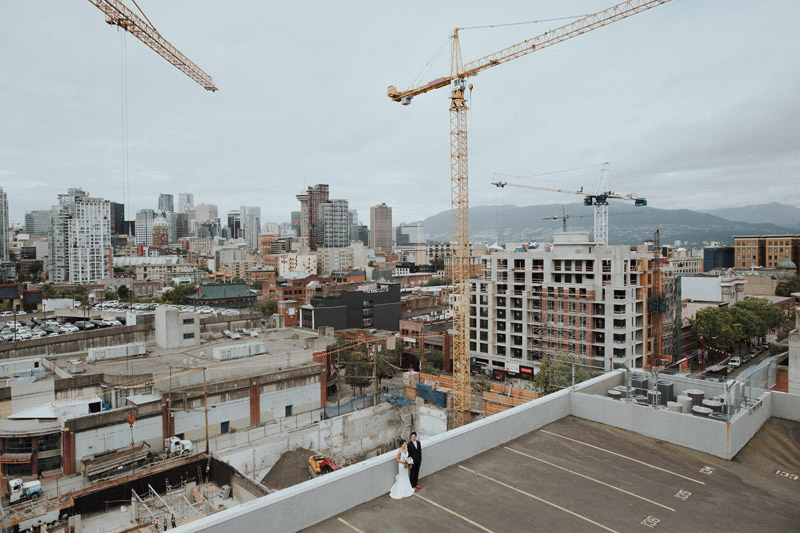 Tomasz Wagner Photographer, Rooftop Wedding Vancouver, Urban Weddings