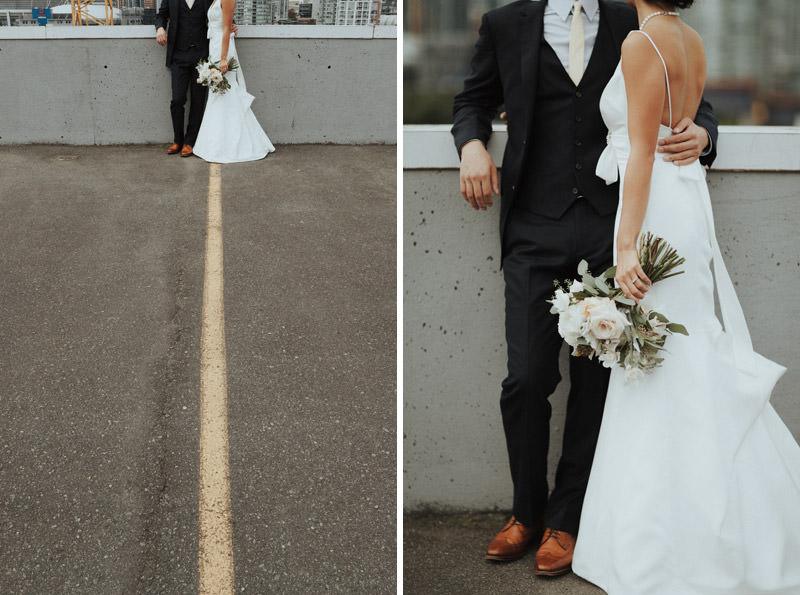 Tomasz Wagner Photographer, Rooftop Wedding Vancouver, Urban Weddings, Celsia Floral Bouquet, Vancouver Wedding Florists