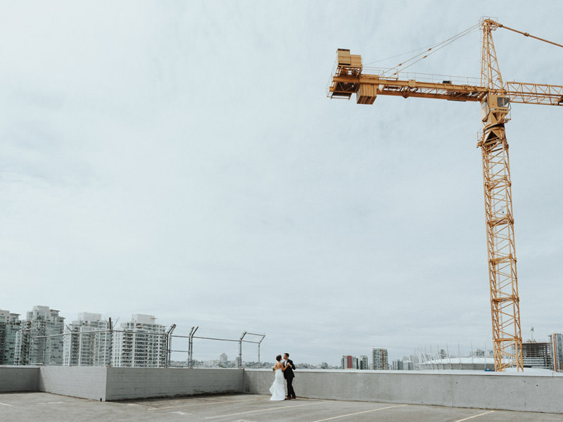 Tomasz Wagner Photographer, Rooftop Wedding Vancouver, Urban Weddings, Creative Bridal Shots