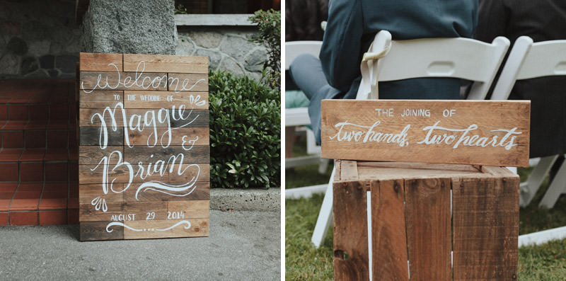 DIY Wooden Wedding Signage, Rustic Wedding Decor, Cecil Green Park House Wedding