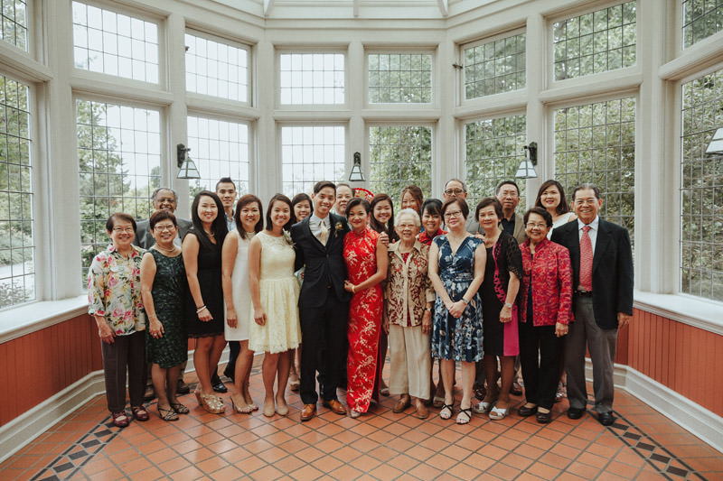 Chinese Wedding Family Photo, Cecil Green Park House Wedding