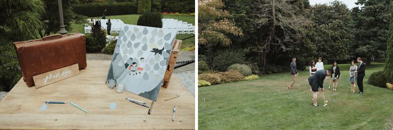 DIY Guestbook, Lawn Games, Cecil Green Park House Wedding