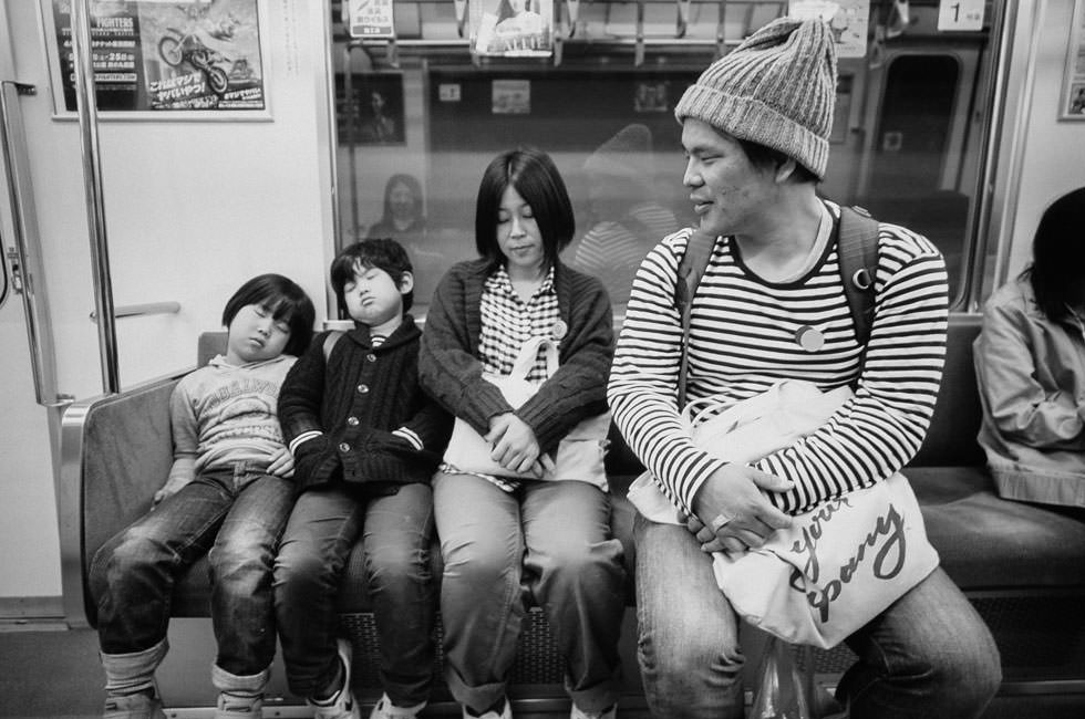 Hideaki Hamada's Family, Haru and Mina, Contax G2, 35mm Film Japan, Tomasz Wagner