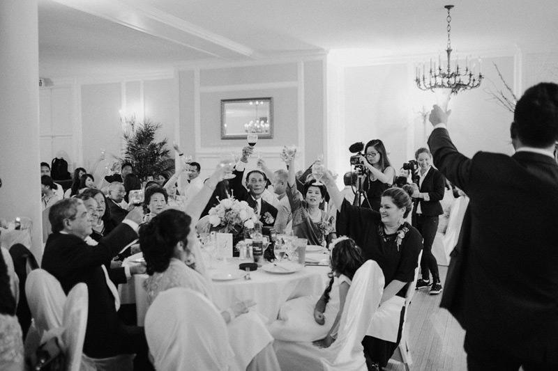 wedding toasts at toronto wedding