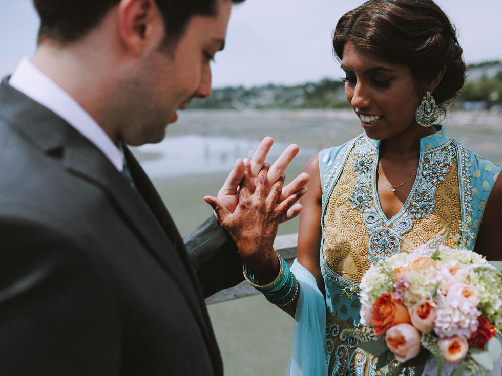 modern indian wedding in tofino