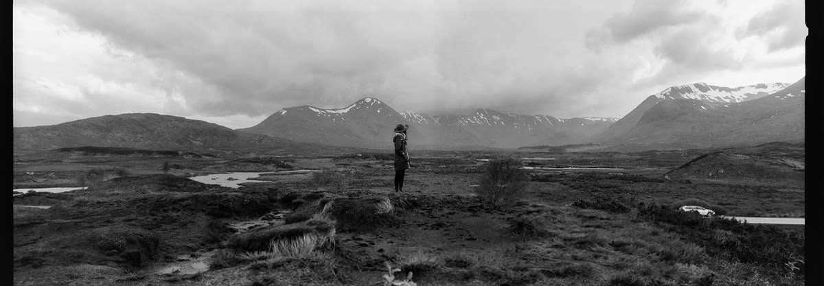Cuillin Hills Isle of Skye scotland photographing on hasselblad xpan panoramic film camera and kodak trix 400