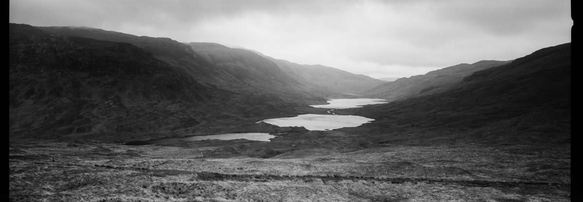 Loch Buie Isle of Mull scotland photographing on hasselblad xpan panoramic film camera and kodak trix 400