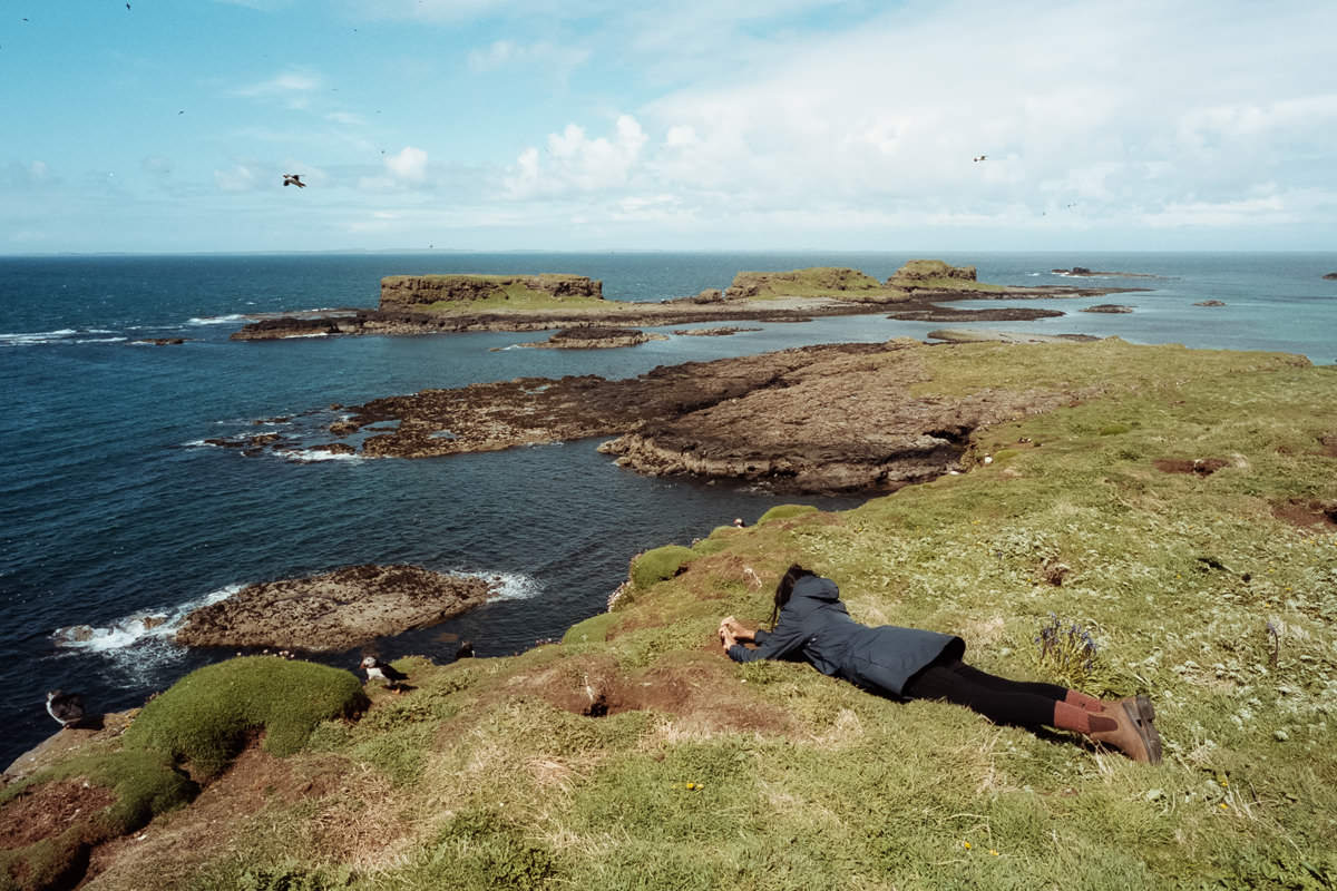 Isle of Staffa Tours scotland photographing on contax g2 film camera and kodak portra 160