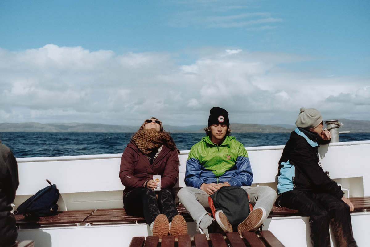 Isle of Staffa Tours scotland photographing on contax g2 film camera and kodak portra 160
