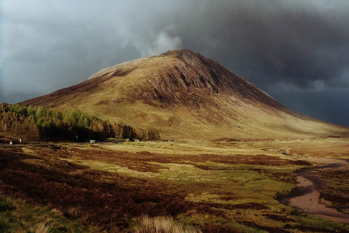 Glencoe scotland photographing on contax g2 film camera and kodak portra 160