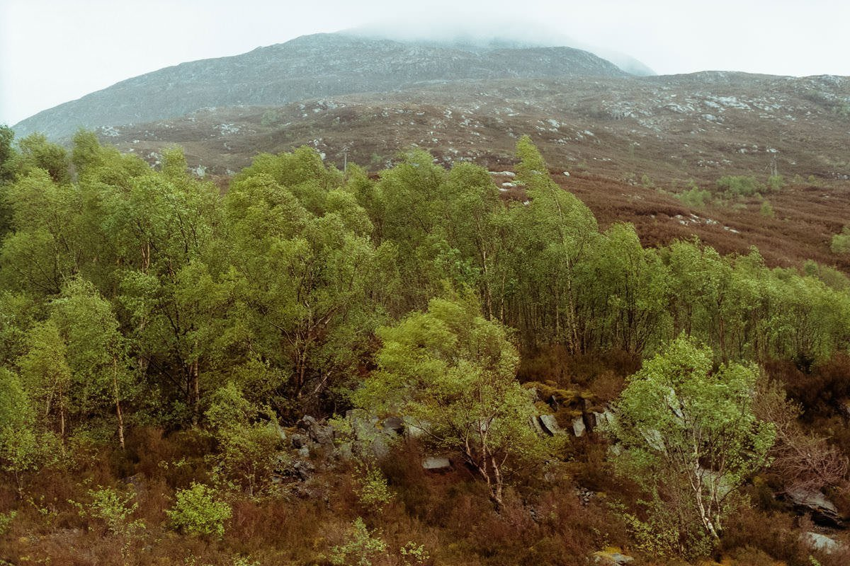 Glen Etive scotland photographing on contax g2 film camera and kodak portra 160