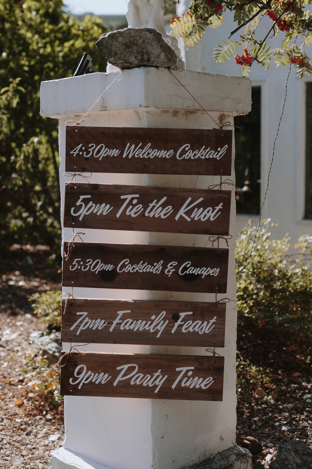 hand painted rustic signage