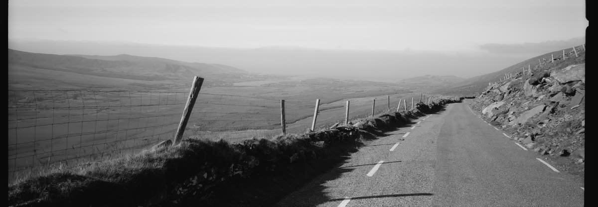 Dingle Connor Pass, Hasselblad XPAN 45mm, Kodak TriX 400, Panoramic Film Ireland