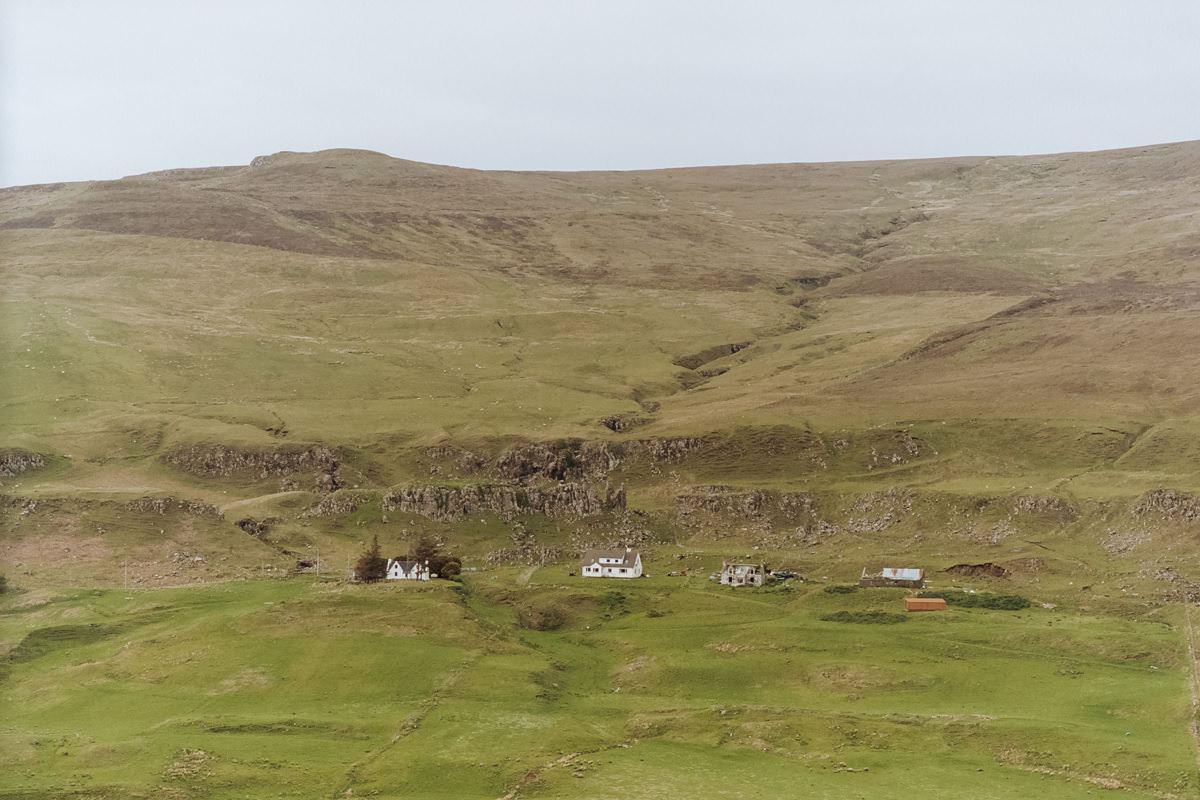 Isle of Mull Houses, Contax G2, Analog Film Ireland, Kodak Portra 160