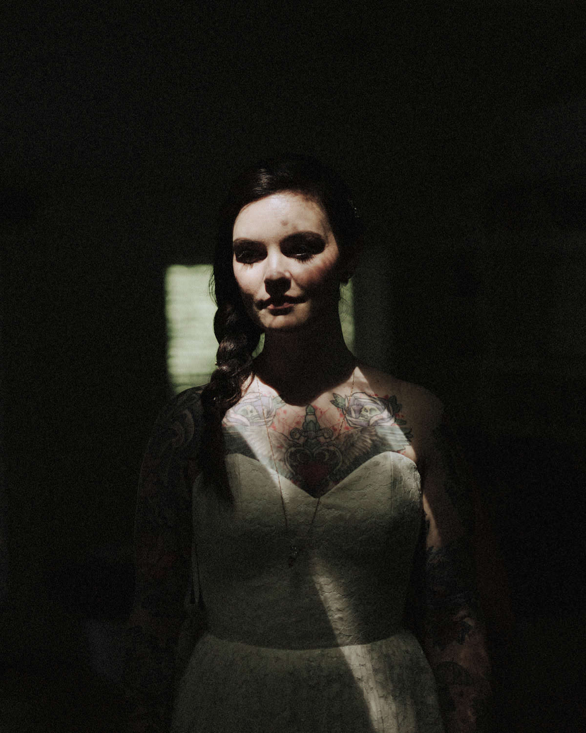 tattooed bride squamish wedding