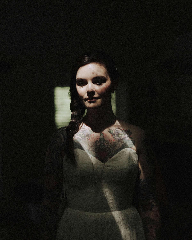 tattooed bride squamish wedding