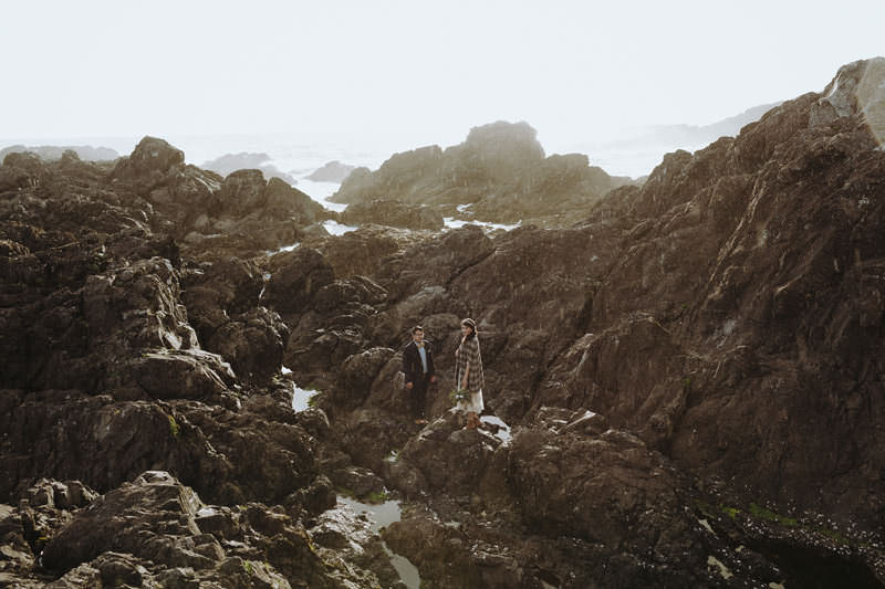 iceland black sand beach elopement