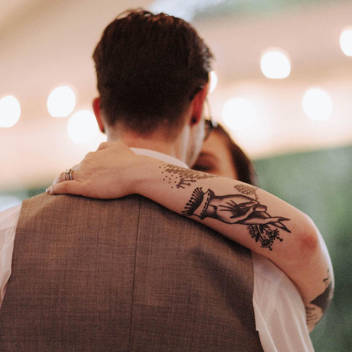 tattooed bride vancouver wedding