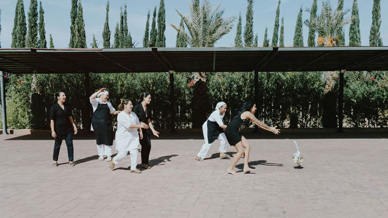 intimate morocco wedding