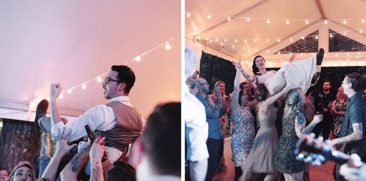 crowdsurfing wedding couple vancouver